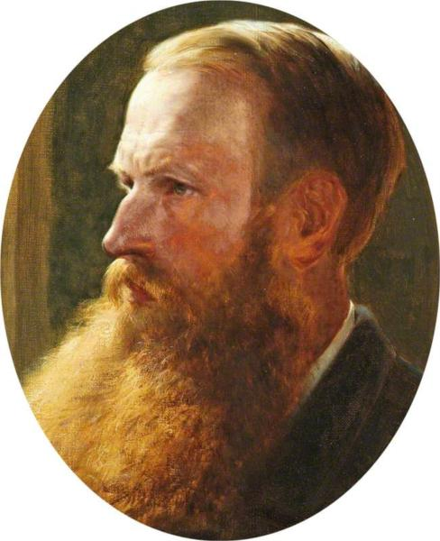 Self Portrait, 1883 - Генри Уильям Бэнкс Дэвис