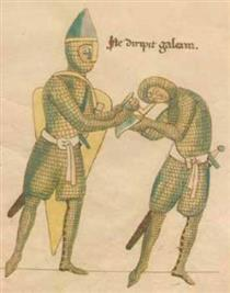 Extract from the Battle Between Greed and Generosity - Herrad of Landsberg