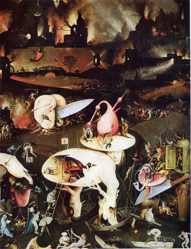The Garden Of Earthly Delights Detail Hieronymus Bosch