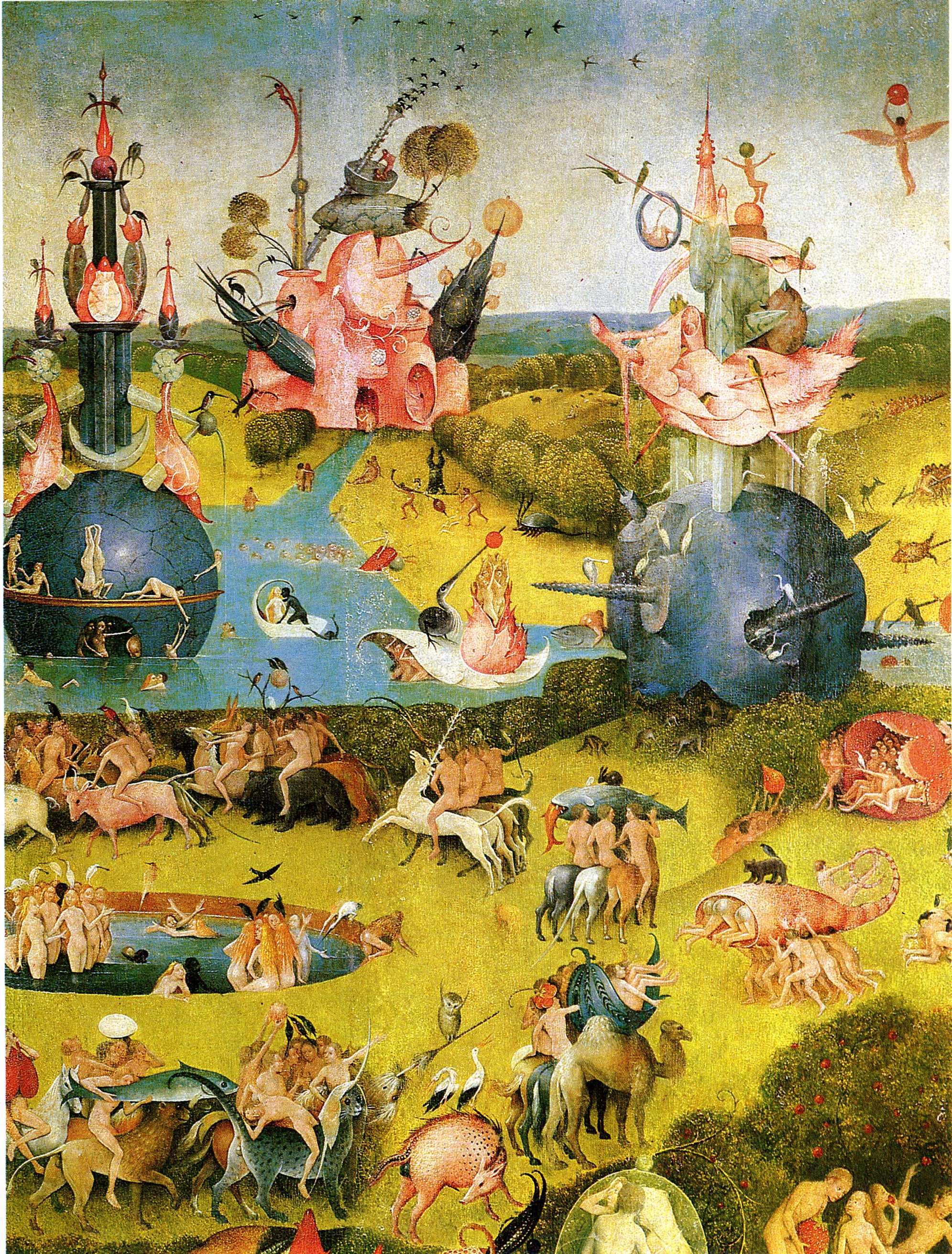 Pin Hieronymous Bosch Garden Of Earthly Delights Close Up