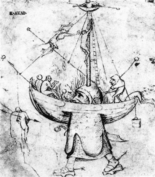 The Ship of Fools in Flames, c.1465 - c.1516 - Hieronymus Bosch