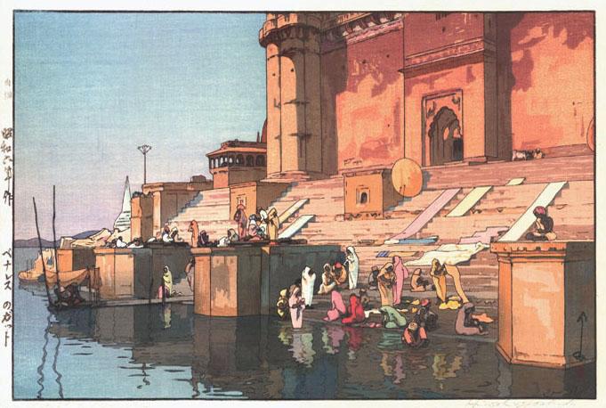 Ghat in Benares, 1931 - Hiroshi Yoshida