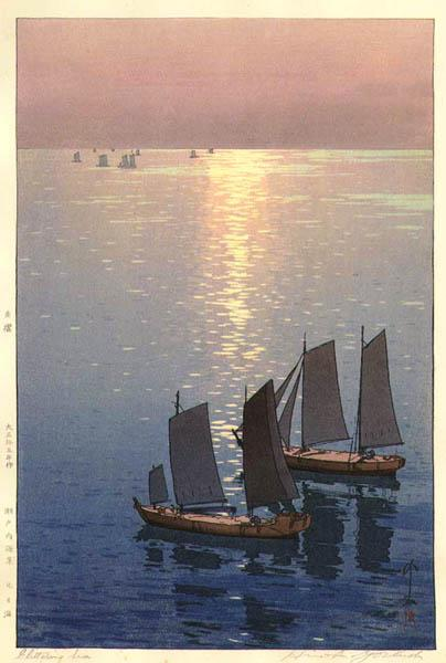 Glittering Sea, 1926 - Yoshida Hiroshi