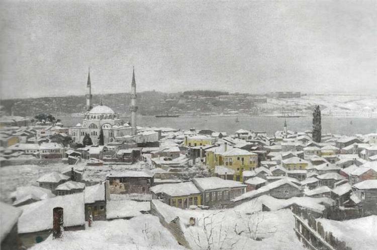 Uskudar in Snow - Hoca Ali Riza