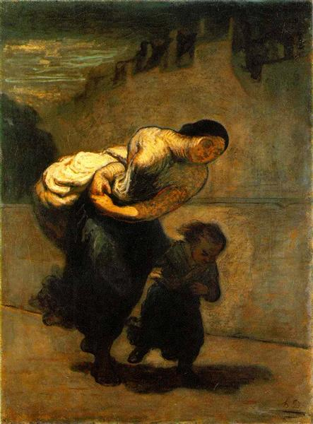 The Burden (The Laundress), 1850 - 1853 - Honore Daumier