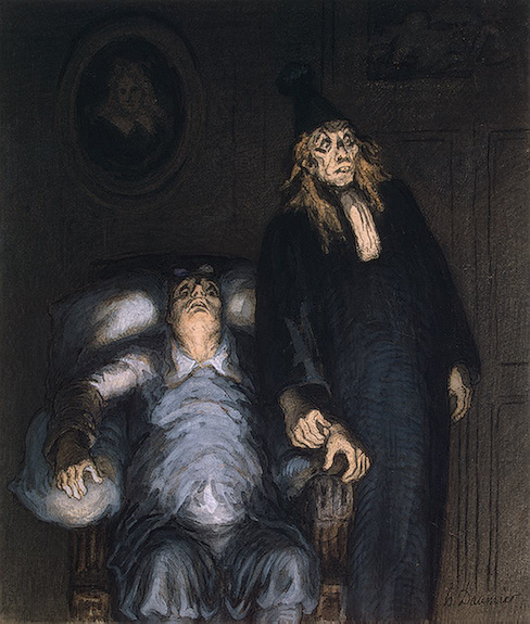The Imaginary Invalid - Honore Daumier