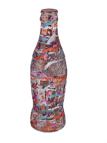Coca Cola Bottle, 1996 - Howard Finster