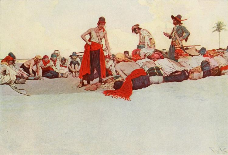 So the Treasure Was Divided, 1905 - Howard Pyle