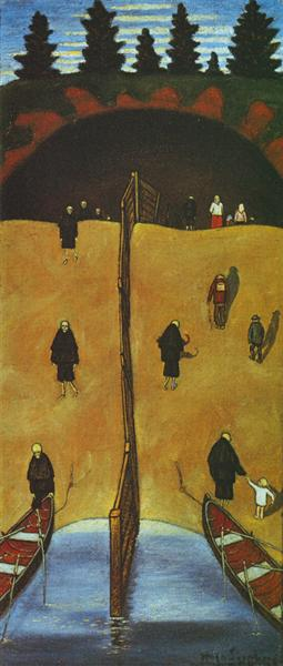 Tuonelan Portilla, 1898 - Hugo Simberg