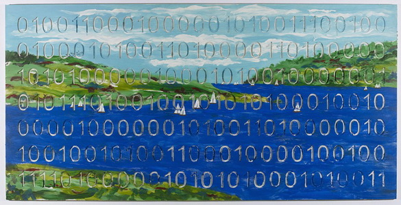 Landscape with Sailboats (Digital Code Conversion Series), 2008 - Iain Baxter&