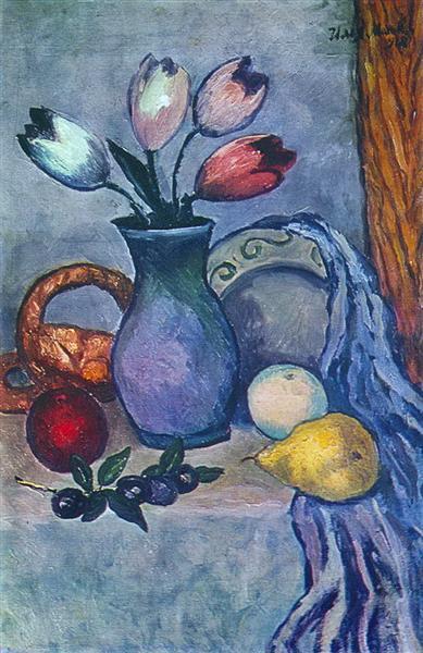 Фрукты и тюльпаны, 1918 - Илья Машков