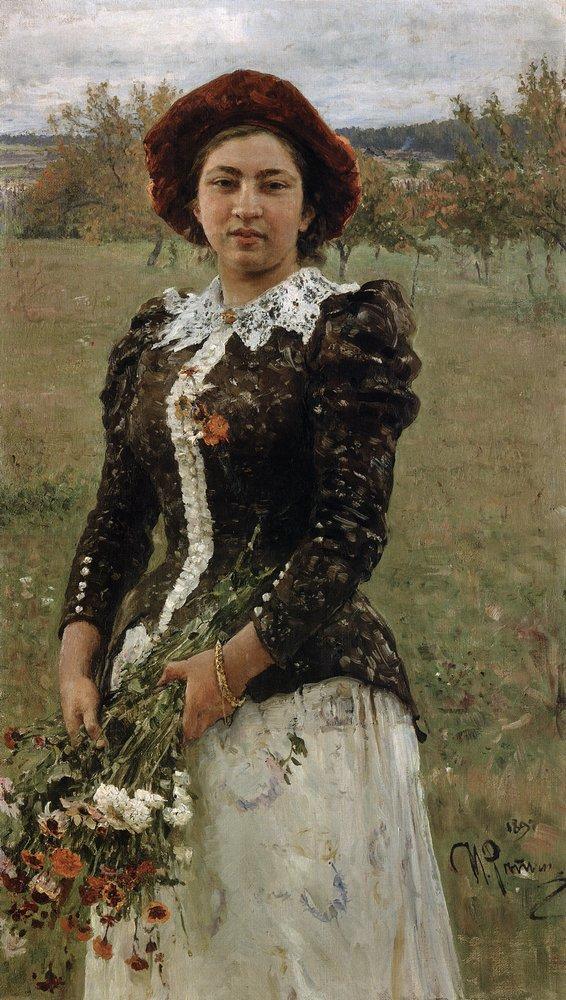 Autumn Bouquet. Portrait of Vera Repina., 1892