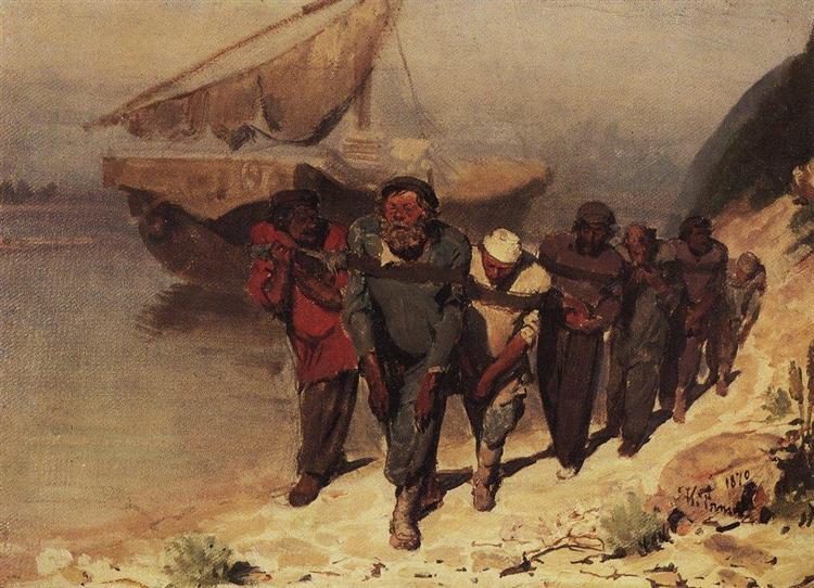 Barge Haulers on the Volga, 1870 - Ilya Repin