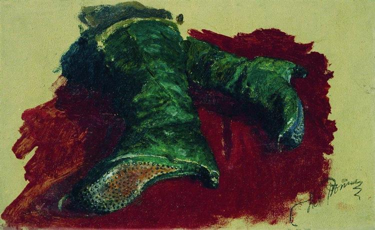 Boots of the prince, 1883 - Ilya Repin