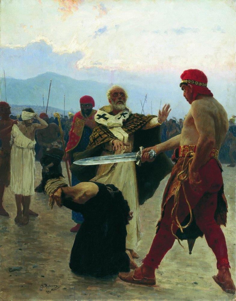Nicholas of Myra eliminates the death of three innocent prisoners, 1890