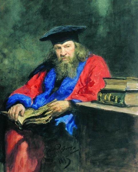 Portrait of Dmitry Mendeleev - Repin Ilya