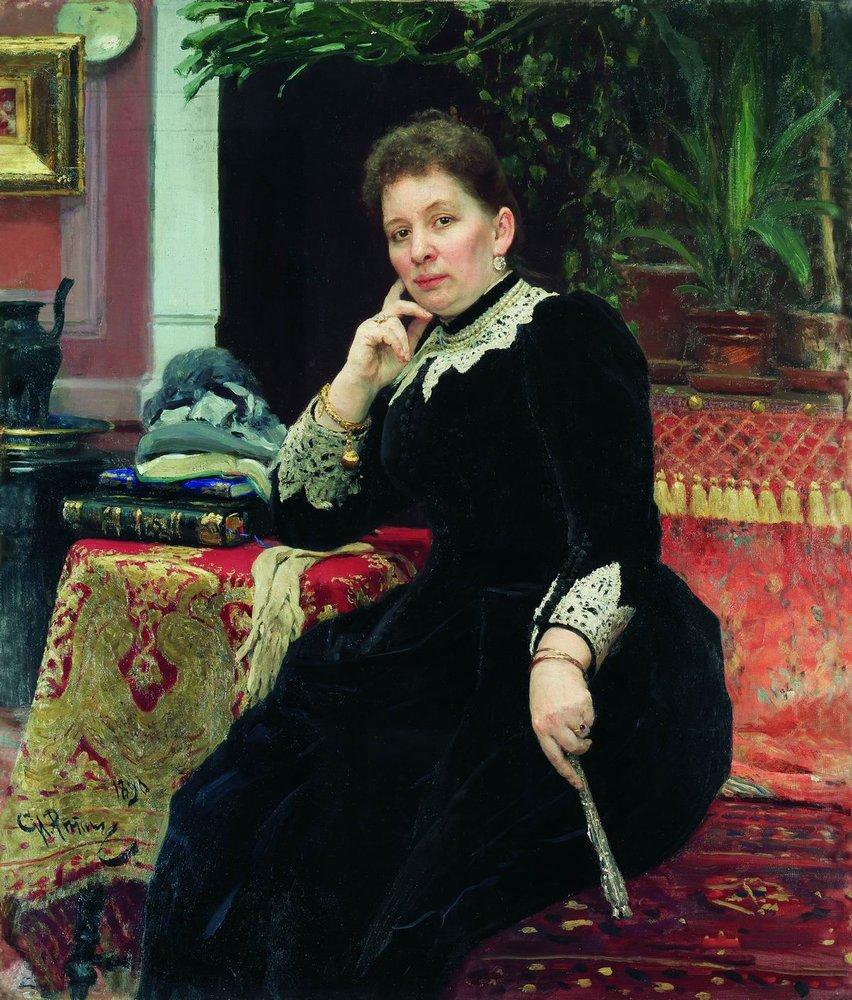 Portrait of the philanthropist Olga Sergeyevna Aleksandrova-Heinz, 1890