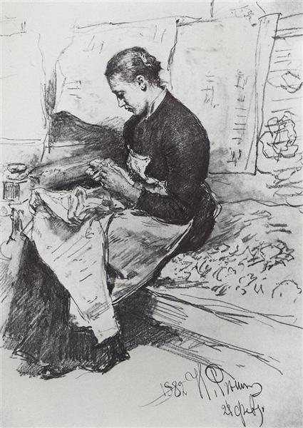 Seamstress, 1882 - Ilya Repin