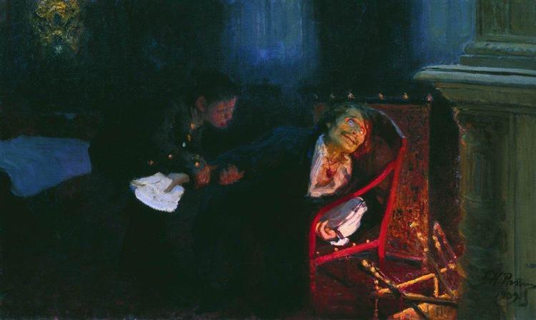 The Self immolation of Gogol, 1909 - Ilya Repin