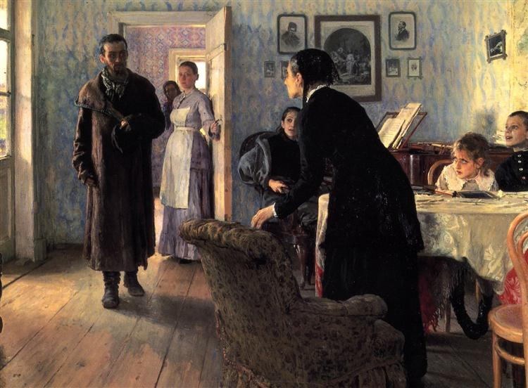 Unexpected Visitors, 1884 - 1888 - Ilya Repin