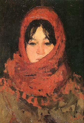 The Red Scarf - Ion Andreescu
