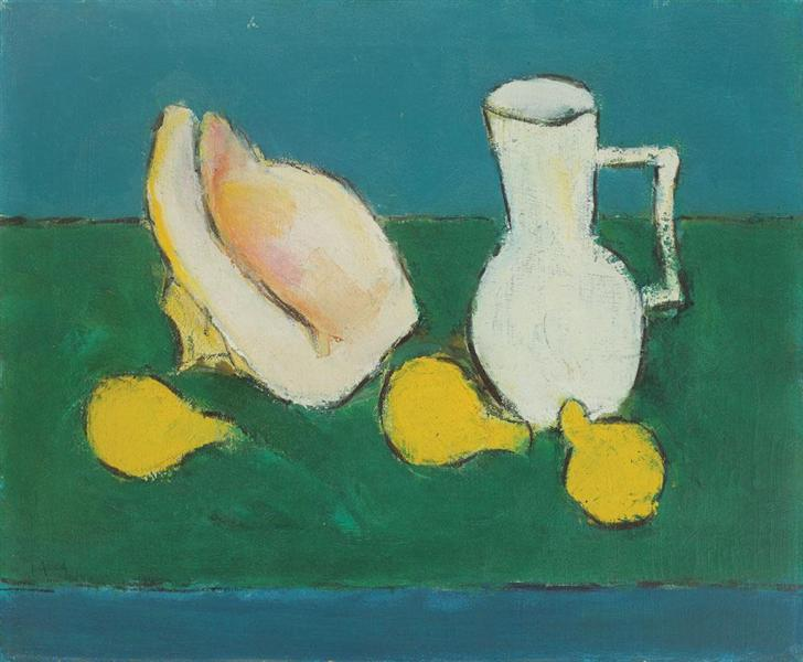 Still Life With Seashell and Fruit - Ion Pacea