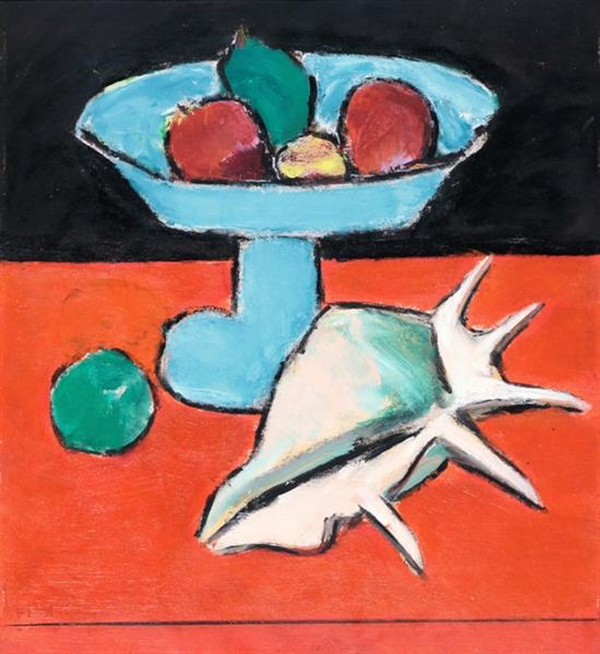 Still Life With Tazza and Seashell - Ion Pacea