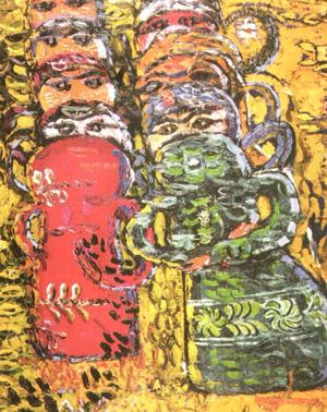 Composition Wtih Dolls - Ion Tuculescu