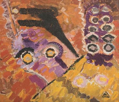 Violet Figure - Ion Tuculescu