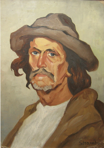 Portrait of a Peasant - Ipolit Strambu