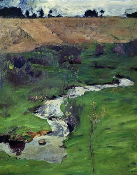 A creek, 1899 - Isaac Levitan