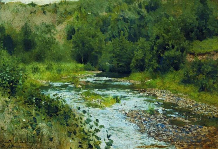 A river, 1888 - Isaac Levitan