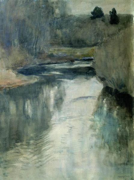A river, 1897 - Isaac Levitan