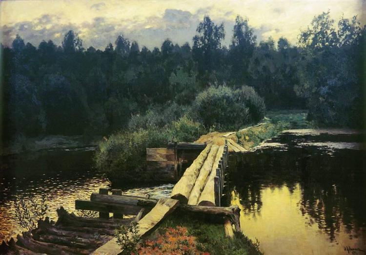By the whirlpool - Isaac Levitan