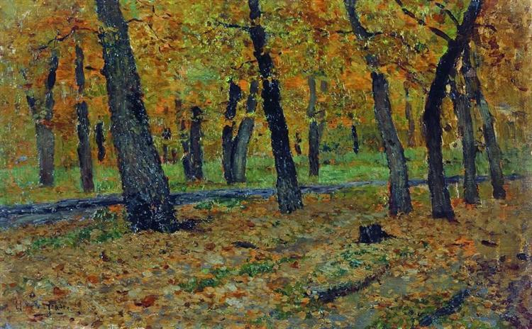 Oak grove. Autumn., 1880 - Isaak Iljitsch Lewitan
