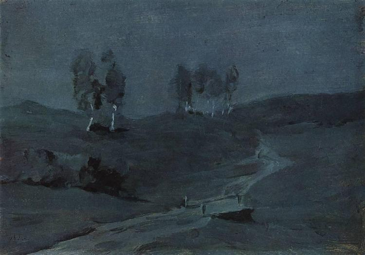 Shadows. Moonlit Night., c.1885 - Isaac Levitan
