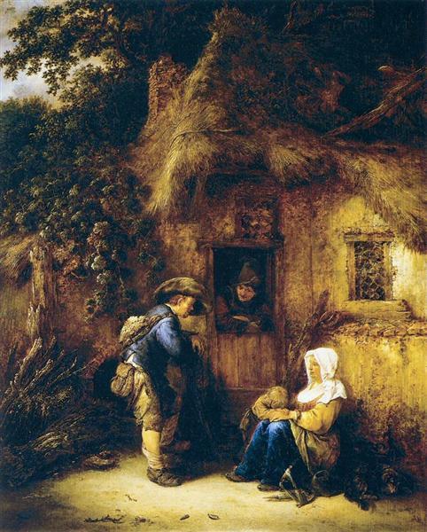 Traveller at a Cottage Door, 1649 - Isaac van Ostade