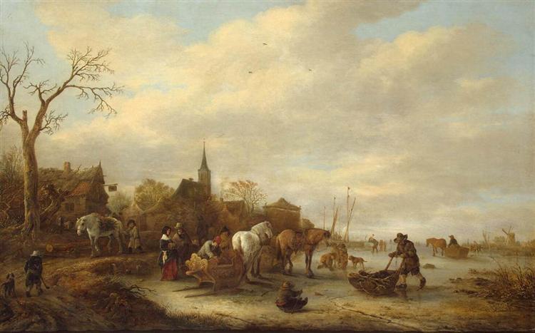 Winter Landscape, 1643 - Isaac van Ostade