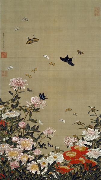 Peonies and Butterflies - Itō Jakuchū
