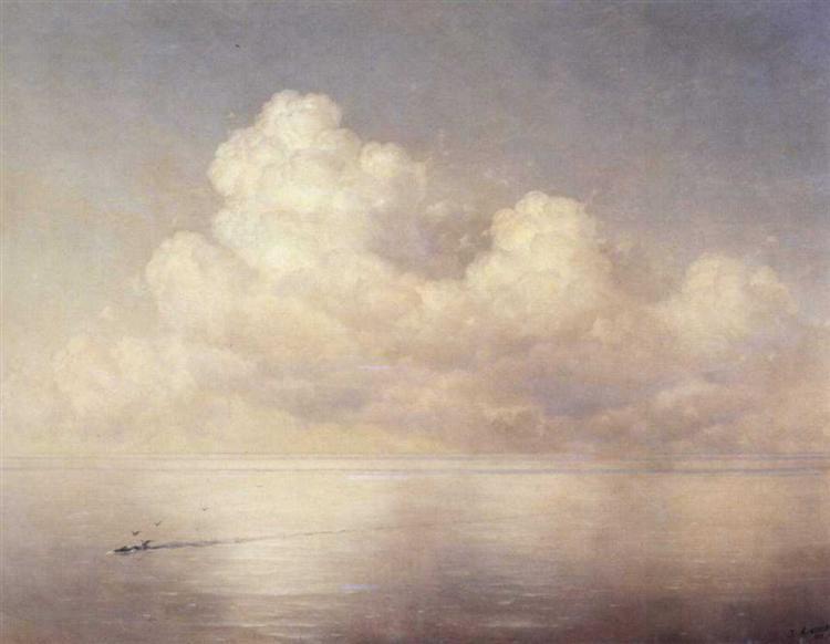 Clouds above a sea calm, 1889 - Iwan Konstantinowitsch Aiwasowski