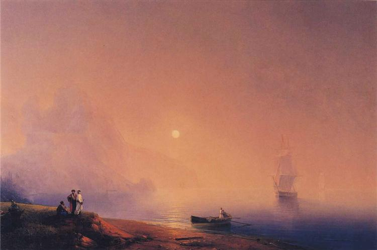 Crimean Tartars on the Sea Shore, 1850 - Ivan Aivazovsky