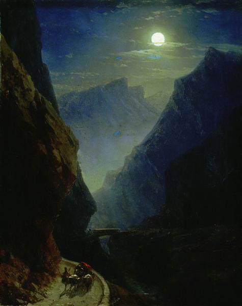Darial Gorge. Moon night, 1868 - Ivan Aïvazovski