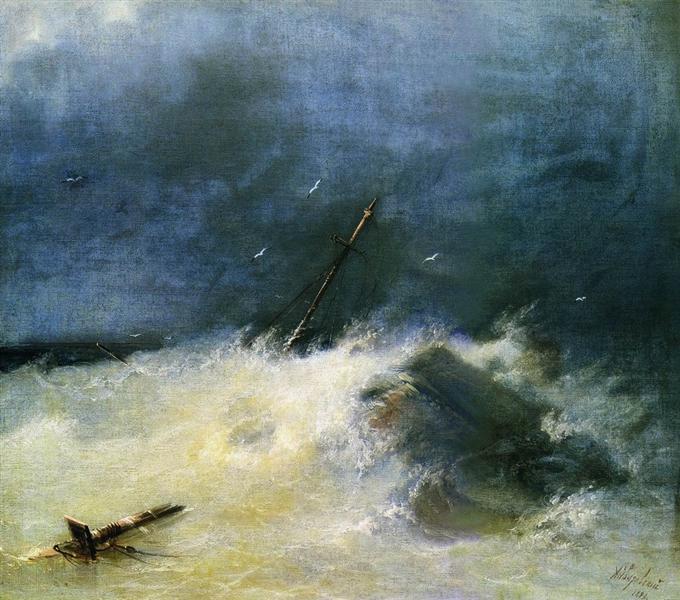 Storm at Sea, 1893 - Ivan Aivazovsky