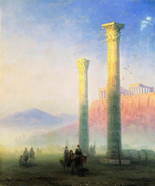 The Acropolis of Athens, 1883 - Ivan Aivazovsky