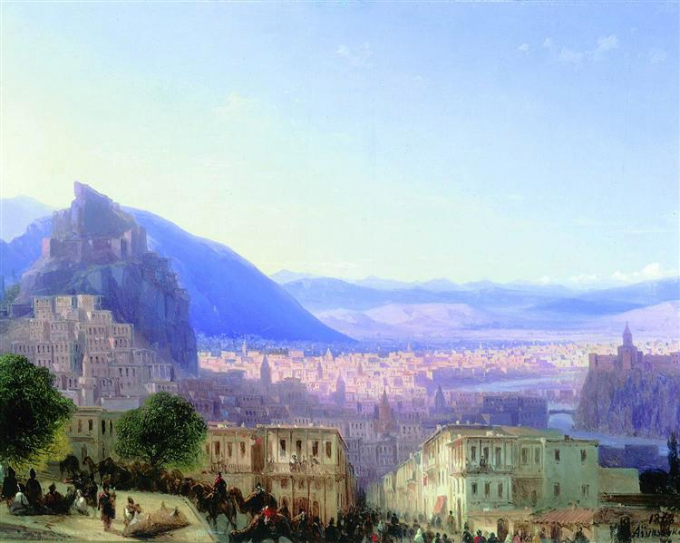 View of Tiflis, 1868 - Ivan Aivazovsky