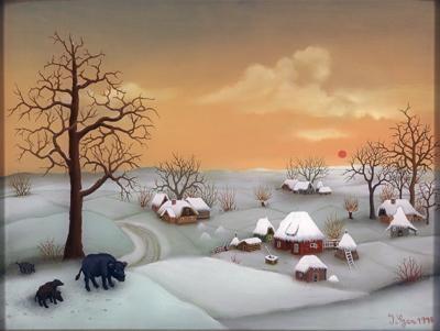 Winter landscape, 1978 - Ivan Generalić