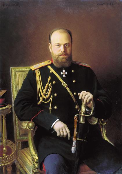 Portrait of Alexander III, 1886 - Ivan Kramskoy
