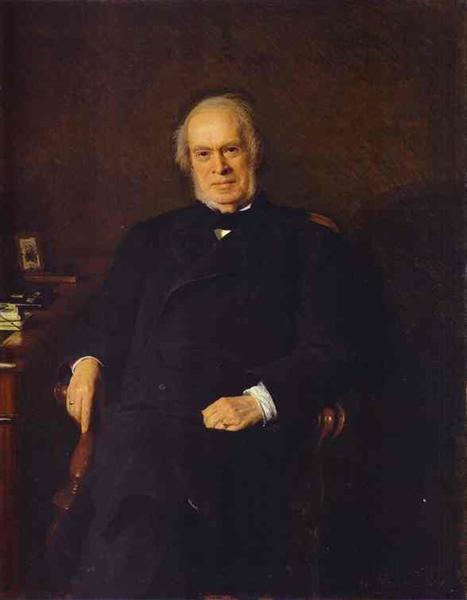 Portrait of Yakov Golubev, Vice Director of the Tax Department, 1884 - Ivan Kramskoy