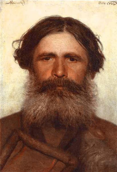 The Portrait of a Peasant, 1868 - Ivan Kramskoy