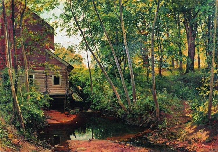Mill in the forest. Preobrazhenskoe, 1897 - Ivan Chichkine